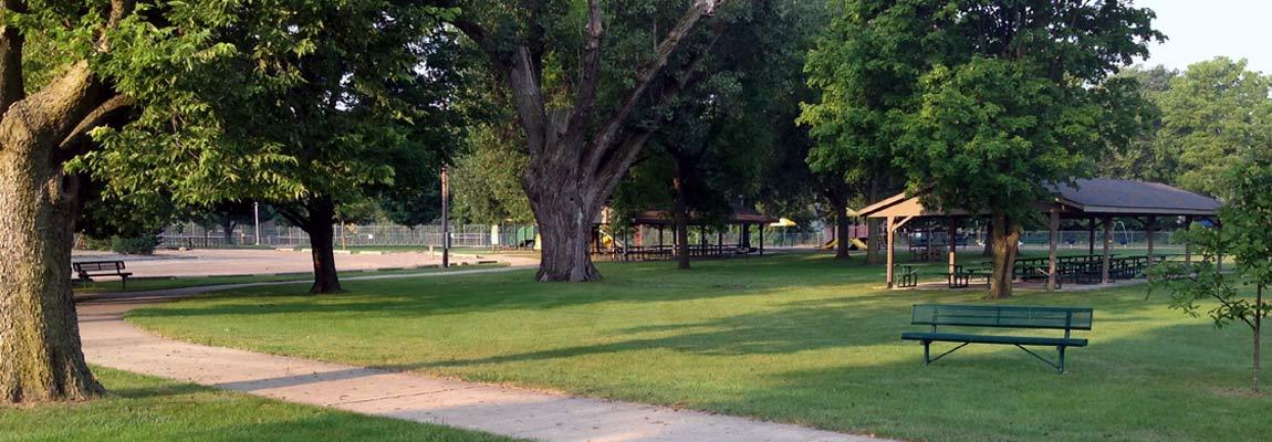 North Park pavilions Fairbury Illinois